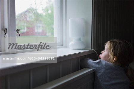Young Girl Looking out of Window, Sweden