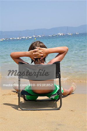 Boy at the Beach, Corsica, France Stock Photo - Premium Royalty-Free, Image code: 600-05181852