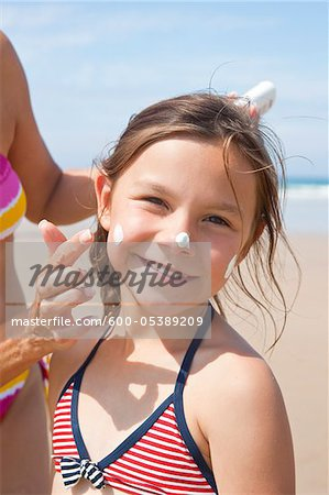 Girl on Beach, Camaret-sur-Mer, Finistere, Bretagne, France Stock Photo - Premium Royalty-Free, Image code: 600-05389209
