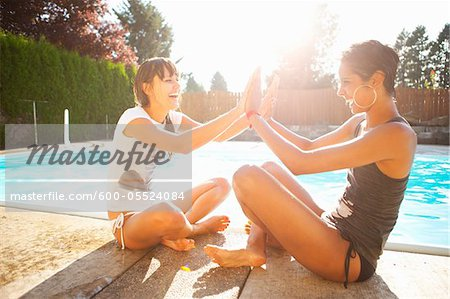 Women by Pool, Vancouver, Washington, USA