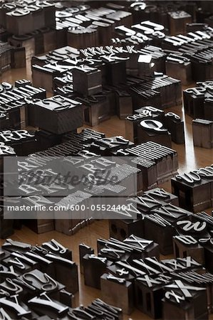 Metal Letterpress Stock Photo - Premium Royalty-Free, Artist: Daryl Benson, Code: 600-05524401