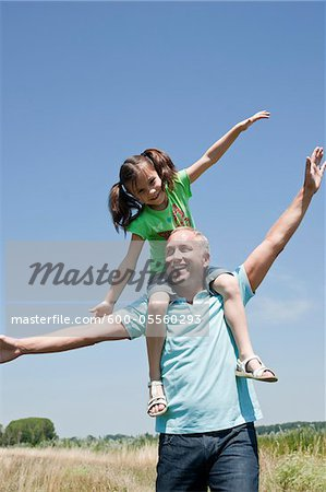 Portrait of Man and Daughter, Mannheim, Baden-Wurttemberg, Germany
