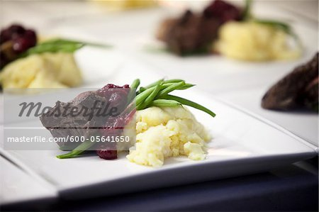 Main Course, Wedding Dinner, Muskoka, Ontario, Canada Stock Photo - Premium Royalty-Free, Image code: 600-05641650