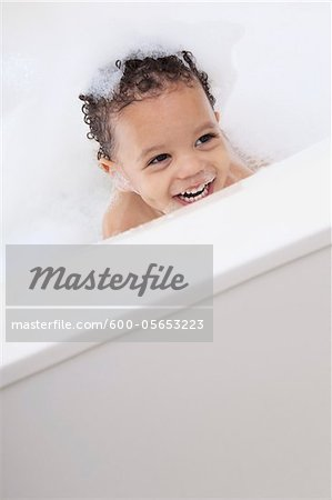 Boy in Bubble Bath Stock Photo - Premium Royalty-Free, Image code: 600-05653223