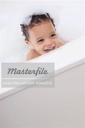 Boy in Bubble Bath