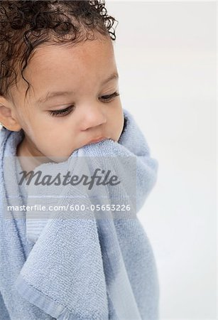 Boy Wrapped in Towel after Bath Stock Photo - Premium Royalty-Free, Image code: 600-05653226