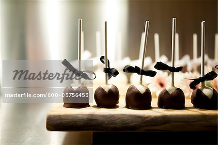Chocolate Lollipops at Wedding Stock Photo - Premium Royalty-Free, Image code: 600-05756453
