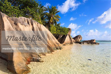 Granite Rock Formations, Anse Source d'Argent, La Digue, Seychelles Stock Photo - Premium Royalty-Free, Image code: 600-05786191