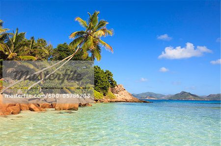 Shoreline at Anse Severe, La Digue, Seychelles Stock Photo - Premium Royalty-Free, Image code: 600-05786203