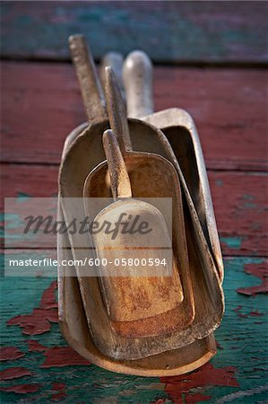 Wooden Vintage Scoops, Ontario, Canada Stock Photo - Premium Royalty-Free, Image code: 600-05800594