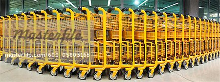 Shopping Carts at Mega Store Stock Photo - Premium Royalty-Free, Image code: 600-05803165