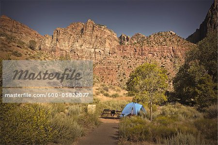 Campsite, Zion National Park, Utah, USA Stock Photo - Premium Royalty-Free, Image code: 600-05822077