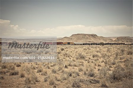 Freight Train, Route 66, New Mexico, USA Stock Photo - Premium Royalty-Free, Image code: 600-05822086