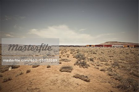 Freight Train, New Mexico, USA Stock Photo - Premium Royalty-Free, Image code: 600-05822089