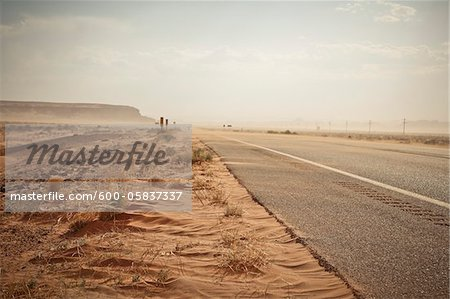 Highway 160 near Mexican Water, Arizona, USA Stock Photo - Premium Royalty-Free, Image code: 600-05837337