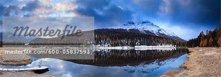 Lej da Staz, Engadin, Switzerland Stock Photo - Premium Royalty-Free, Image code: 600-05837593
