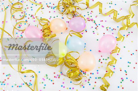 Balloons and Streamers Stock Photo - Premium Royalty-Free, Image code: 600-05854211