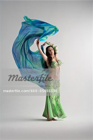 Woman Belly Dancing Stock Photo - Premium Royalty-Free, Image code: 600-05855330