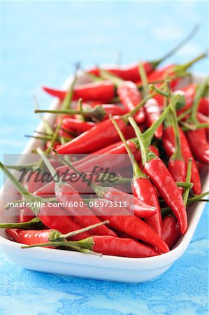 Hot Peppers Stock Photo - Premium Royalty-Free, Image code: 600-05973313