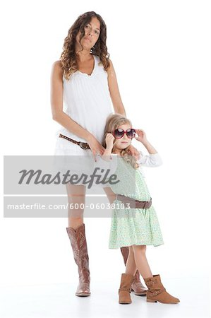 Portrait of Mother and Daughter Stock Photo - Premium Royalty-Free, Image code: 600-06038103