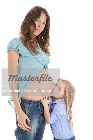 Pregnant Mother and Daughter Stock Photo - Premium Royalty-Free, Image code: 600-06038111