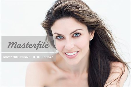 Portrait of Woman at the Beach, Florida, USA Stock Photo - Premium Royalty-Free, Image code: 600-06038143