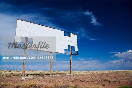 Blank Billboard along Interstate 40, Arizona, USA