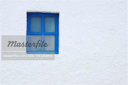 Blue Window of Church, Oia, Santorini Island, Cyclades Islands, Greek Islands, Greece Stock Photo - Premium Royalty-Free, Image code: 600-06125805