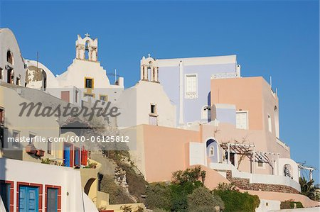 Oia, Santorini Island, Cyclades Islands, Greek Islands, Greece Stock Photo - Premium Royalty-Free, Image code: 600-06125812