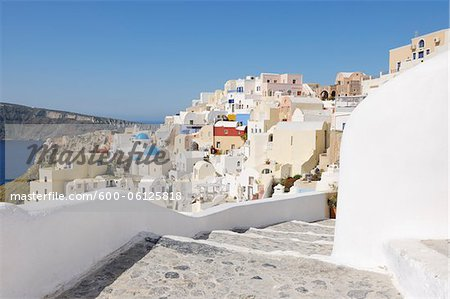 Oia, Santorini Island, Cyclades Islands, Greek Islands, Greece Stock Photo - Premium Royalty-Free, Image code: 600-06125818