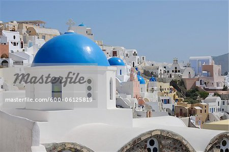 Church, Oia, Santorini Island, Cyclades Islands, Greek Islands, Greece Stock Photo - Premium Royalty-Free, Image code: 600-06125819