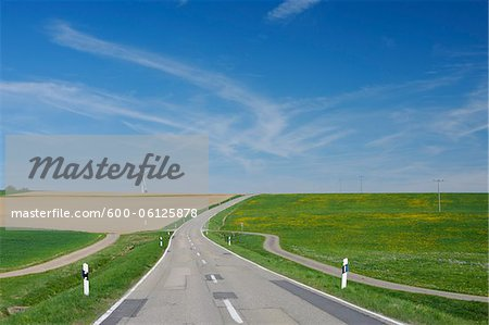Road and Fields, Bavaria, Germany