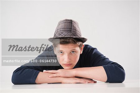 Portrait of Teenage Boy Stock Photo - Premium Royalty-Free, Image code: 600-06144730