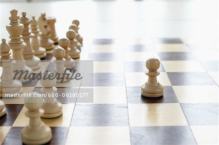 Chessboard and Chess Pieces Stock Photo - Premium Royalty-Free, Image code: 600-06180177
