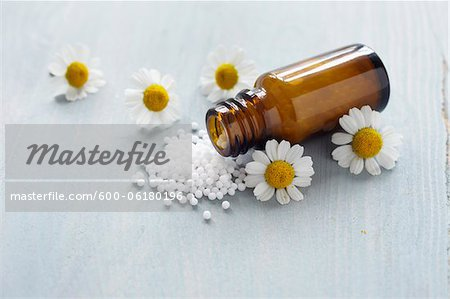 Chamomile and Homeopathic Medicine Stock Photo - Premium Royalty-Free, Image code: 600-06180196