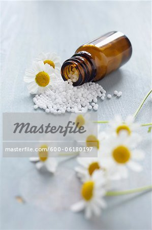 Chamomile and Homeopathic Medicine Stock Photo - Premium Royalty-Free, Image code: 600-06180197