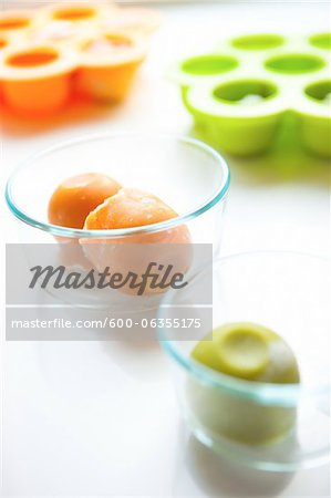 Frozen Baby Food Stock Photo - Premium Royalty-Free, Image code: 600-06355175