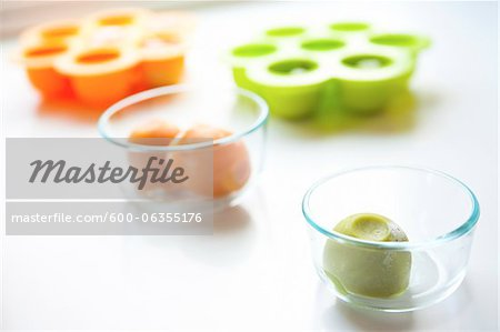 Frozen Baby Food Stock Photo - Premium Royalty-Free, Image code: 600-06355176