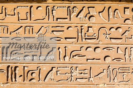 Hieroglyphs, Saqqara, Egypt Stock Photo - Premium Royalty-Free, Image code: 600-06355327