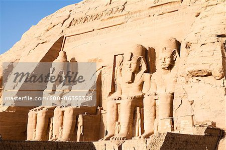 Great Temple of Rameses II, Abu Simbel, Nubia, Aswan Governorate, Egypt Stock Photo - Premium Royalty-Free, Image code: 600-06355328