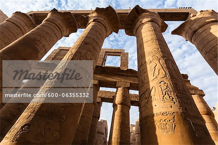 Great Hypostyle Hall, Temple of Amun, Karnak Temple, Luxor, Egypt Stock Photo - Premium Royalty-Free, Image code: 600-06355332