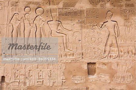 Hieroglyphs, Karnak Temple, Luxor, Egypt Stock Photo - Premium Royalty-Free, Image code: 600-06355334