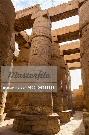 Great Hypostyle Hall, Temple of Amun, Karnak Temple, Luxor, Egypt Stock Photo - Premium Royalty-Free, Image code: 600-06355335