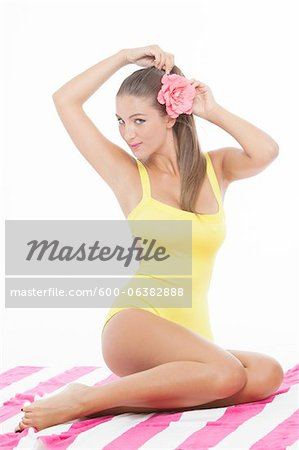 Pin-Up Girl Stock Photo - Premium Royalty-Free, Image code: 600-06382888