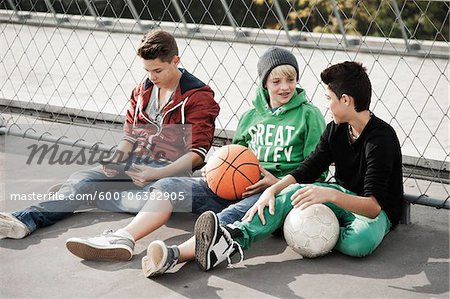 Boys, Mannheim, Baden-Wurttemberg, Germany Stock Photo - Premium Royalty-Free, Image code: 600-06382905