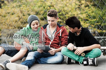Boys, Mannheim, Baden-Wurttemberg, Germany Stock Photo - Premium Royalty-Free, Image code: 600-06382909
