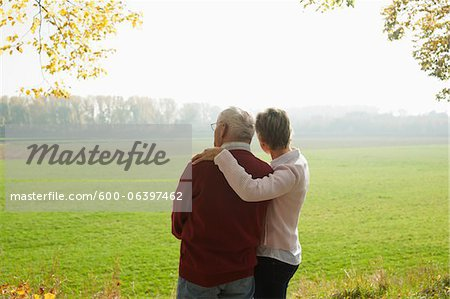 Mature Woman with Senior Father in Autumn, Lampertheim, Hesse, Germany Stock Photo - Premium Royalty-Free, Image code: 600-06397462