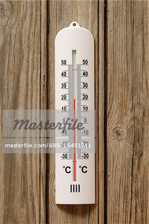 Close-up of Thermometer at 20 Degrees Celsius Stock Photo - Premium Royalty-Free, Image code: 600-06451941