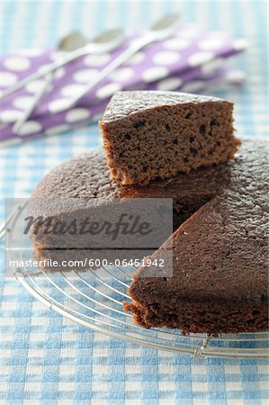 Close-up of Slice cut from Chocolate Cake Stock Photo - Premium Royalty-Free, Image code: 600-06451942