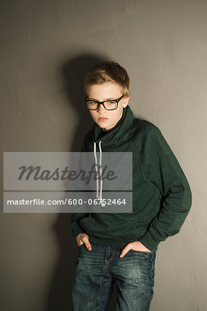 Portrait of Boy, Studio Shot Stock Photo - Premium Royalty-Free, Image code: 600-06752464